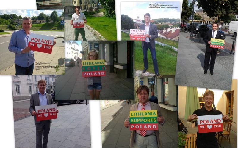 Lietuviai savo meilę Lenkijai prisipažįsta taip.
