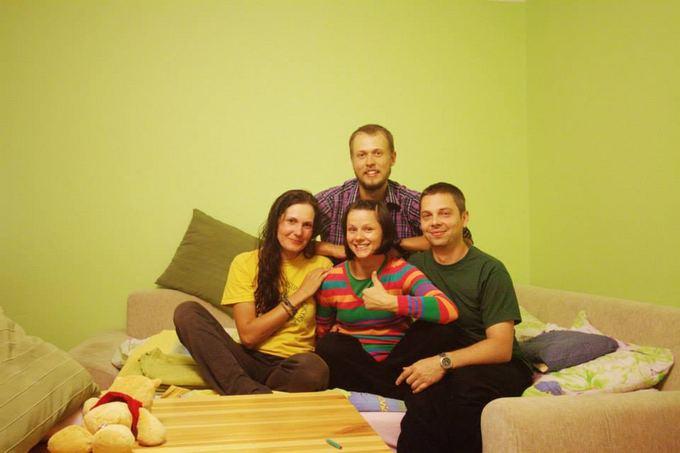 Evelinos ir Karolio nuotr./Mus pavežėję ir namo Varauvoje pasikvietusi nuostabi lenkų aeimina