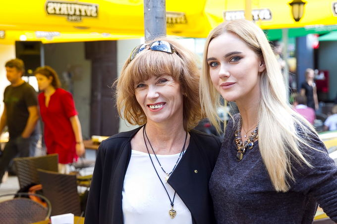 Akvilina Ubartaitė su mama Birute
