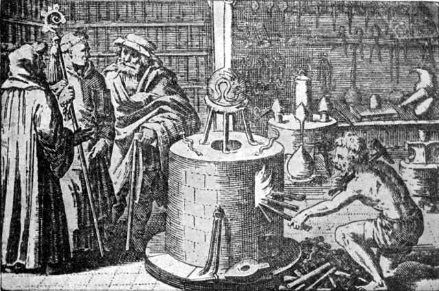 Viduramžių alchemikų laboratorija