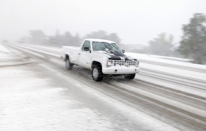 Pietų Dakotą užklupo žiema.
