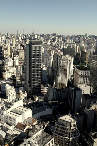 A.Baranauskaitės nuotr./San Paulo panorma ia Banespa pastato