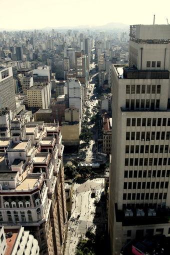 A.Baranauskaitės nuotr./San Paulo panorma ia Banespa pastato 3