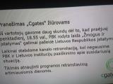 15min.lt iliustracija/Informacinis pranešimas apie PBK retransliavimo nutraukimą