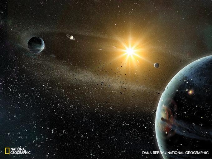 Dalis mokslininkų mano, kad maždaug prieš 3,8 mlrd. metų Uranas su Neptūnu galėjo susikeisti vietomis.