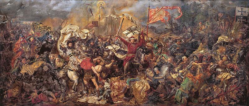 """Jano Matejkos paveikslo """"Žalgirio mūšis"""" centre - Vytautas Didysis"""