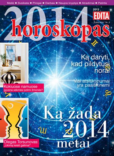 """Žurnalo """"Edita"""" archyvo nuotr./""""2014 horoskopas"""""""