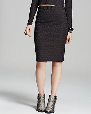 Aqua Dot pieštuko stiliaus sijonas iš bloomingdales.com.