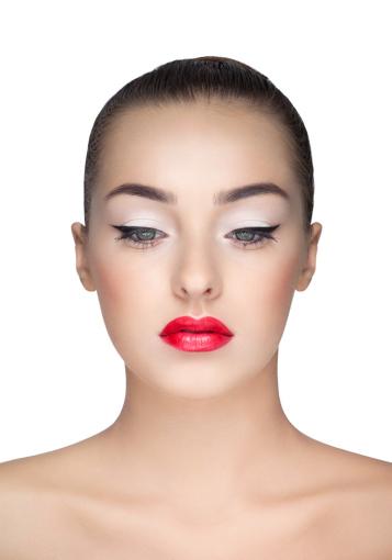"""""""Makeup and image school"""" nuotr./Olesios Žuravliovos makiažas, modelis Gretė"""