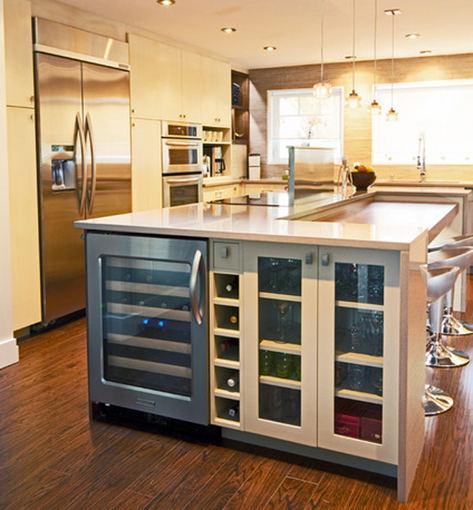 Įmontuojamas vyno šaldytuvas