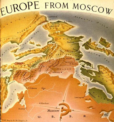 bigthink.com nuotr./Kaip Europą mato Maskva
