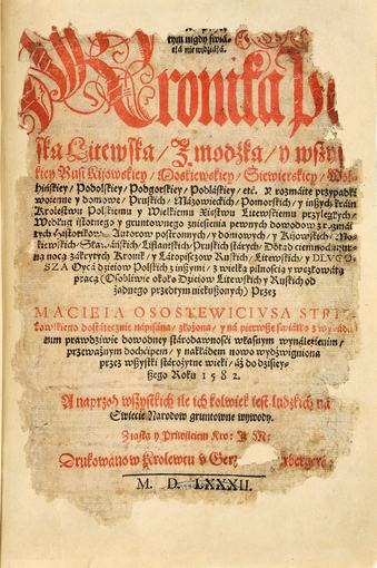 Motiejus Strijkovskis. Kronika, 1582 m