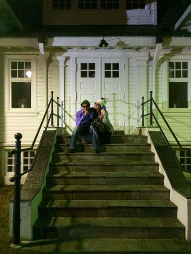 """Twitter"" nuotr./Charlie Sheenas ir Brett Rossi Islandijoje"
