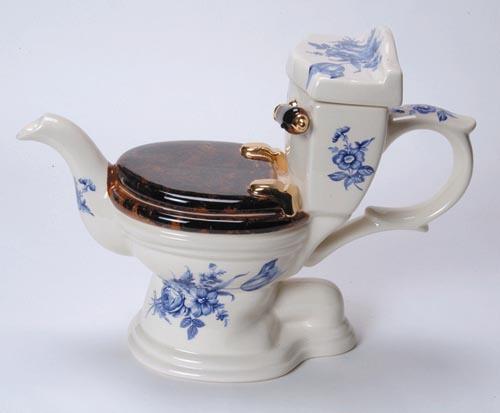 Klozetą imituojantis arbatinukas