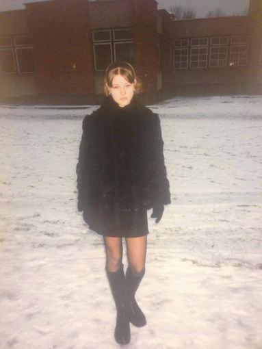 Asmeninio albumo nuotr./Indrė Burlinskaitė paauglystėje