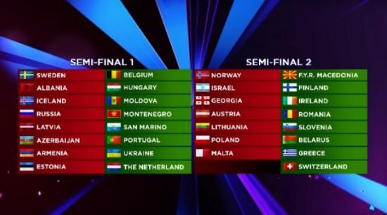 """Eurovision.tv nuotr./""""Eurovizijos"""" dalyvių pasirodymų eiliškumas"""