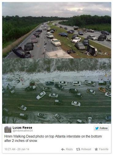 """Instagram"" nuotr./Atlanta po sniego audros"
