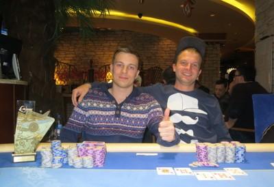 PokerNews.lt nuotr./Julius Račkys ir Aleksandras Rusinovas