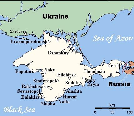 wikimedia.org nuotr./Krymo žemėlapis