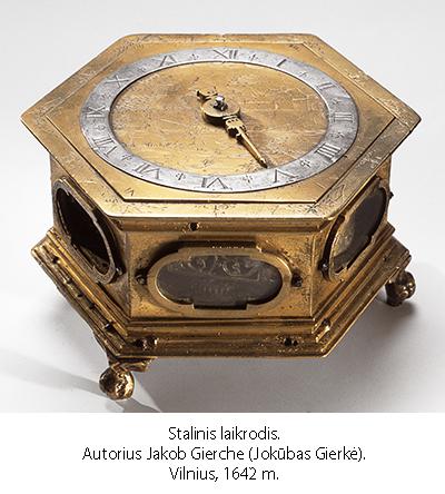 J.Gierkės laikrodis (1642 metai)
