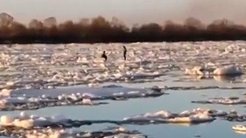 Детей спасли с дрейфующей льдины