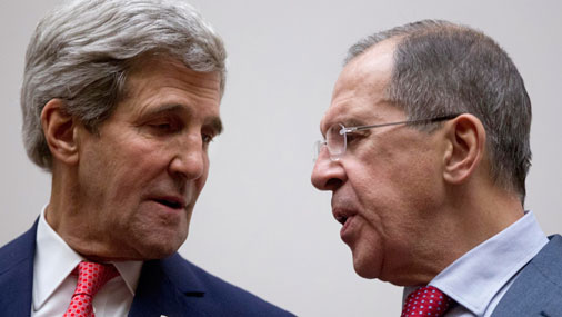 Сергей Лавров (справа) и Джон Керри