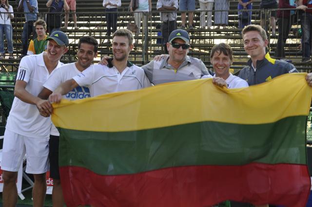 Lietuvos rinktinė įveikė PAR komandą ir tęsia kovą Daviso taurės varžybose