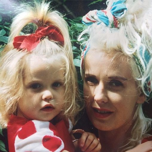 """Instagram"" nuotr./Peaches Geldof su mama Paula Yates"