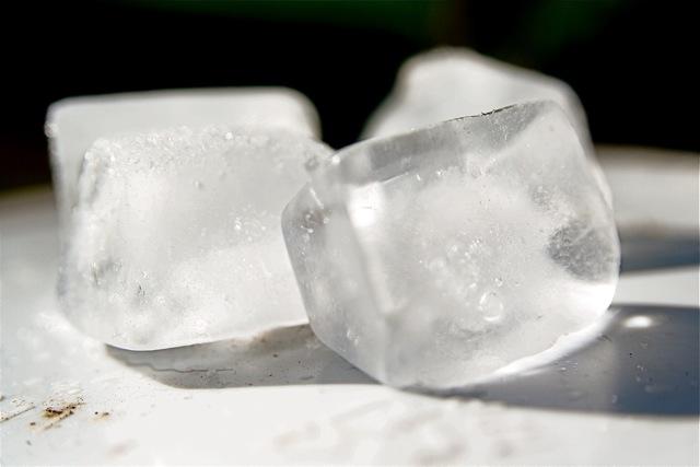 Ledo kubeliai grožiui