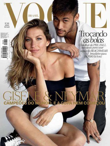 """Vogue"" viršelis/Mario Testino nuotr./Gisele Bundchen ir Neymaras"