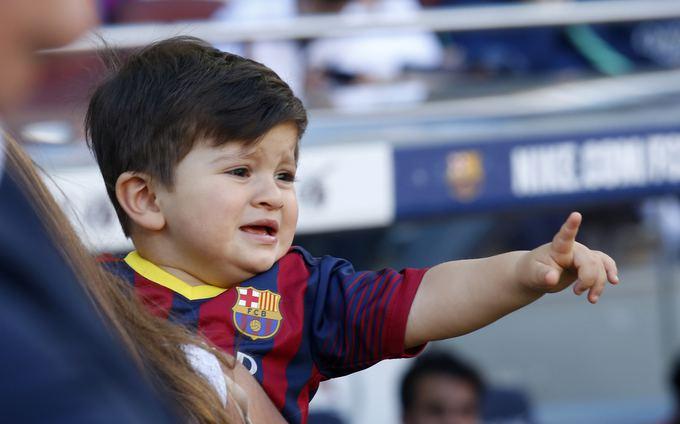 """Reuters""/""Scanpix"" nuotr./Lionelio Messi sūnus Thiago"