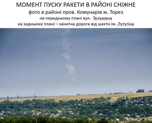 Ukrainos saugumo tarnybos nuotr./Raketos paleidimo iš Snežnojės apylinkių akimirka
