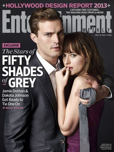 """Entertainment Weekly"" viršelis/Jamie Dornanas ir Dakota Johnson"