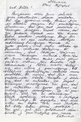 V.Plytniko laiškas