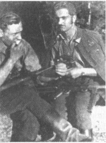 Nuotr. iš partizanai.org/Kovos draugai Lionginas Baliukevičius-Dzūkas (kairėje) ir Vaclovas Voveris-Žaibas
