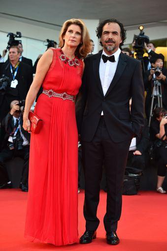 "AFP/""Scanpix"" nuotr./Alejandro Inarritu su žmona Maria Eladia Hagerman de Gonzalez"