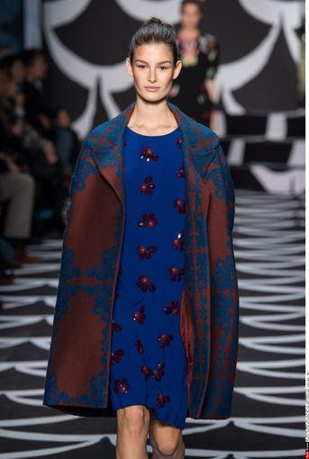 """Scanpix"" nuotr./Diane Von Furstenberg 2014-2015 m. rudens-žiemos kolekcija Niujorko mados savaitėje."