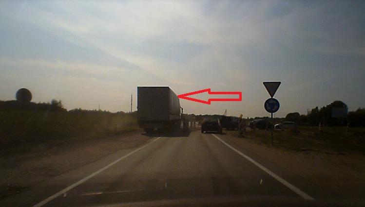 Latvis su vilkiku važiuoja prieš eismą