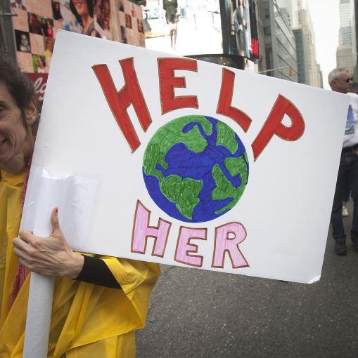 """""""Reuters""""/""""Scanpix"""" nuotr./""""Žmonių klimatas"""" – eisena Niujorke"""