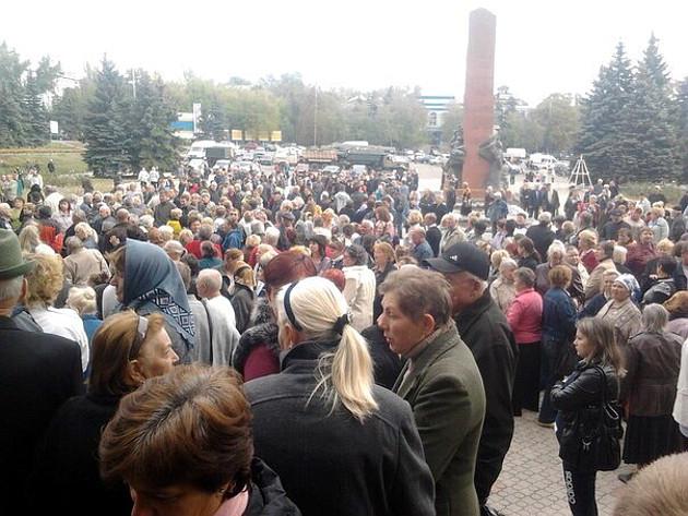 Protesto akcija Antracito mieste