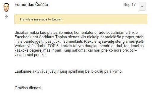Facebook.com/Tokį laišką gavo socialdemokratų partijos Alytaus skyriaus nariai.