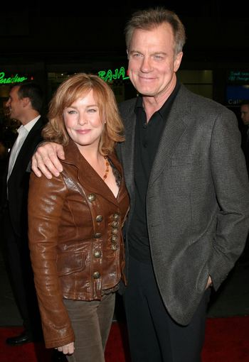 AOP nuotr./Stephenas Collinsas su žmona Faye Grant 2006-aisiais