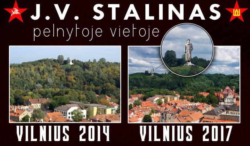 """Propagandinis plakatas, skleidžiamas per lietuvišką """"Facebook""""."""