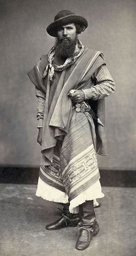 wikimedia.org nuotr./Gaučo 1868 metais
