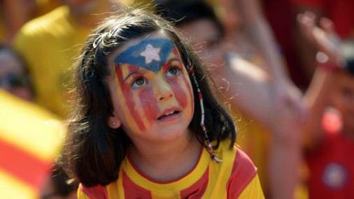 Mitingas dėl Katalonijos nepriklausomybės
