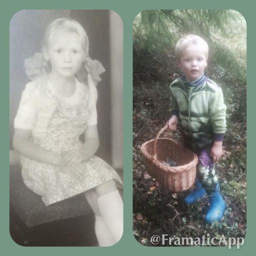 Asmeninio albumo nuotr./Natalija Bunkė šešerių metų ir jos sūnus Kristupas trejų