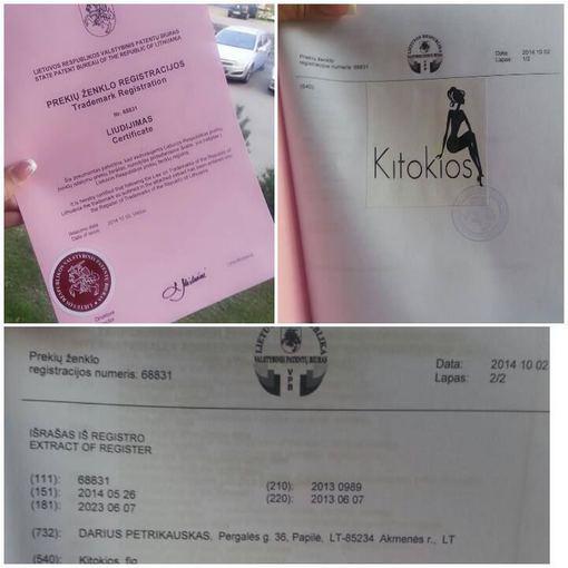 Asmeninio albumo nuotr./Indrės Burlinskaitės sertifikatas dėl grupės pavadinimo