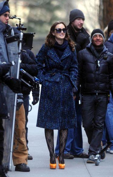 """""""Scanpix"""" nuotr./Aktorė Leighton Meester filmavimo aikštelėje Niujorke."""