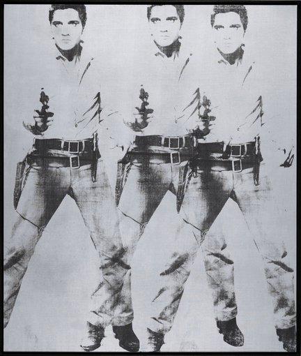 """""""Scanpix""""/AP nuotr./Andy Warholo darbas """"Triple Elvis"""""""
