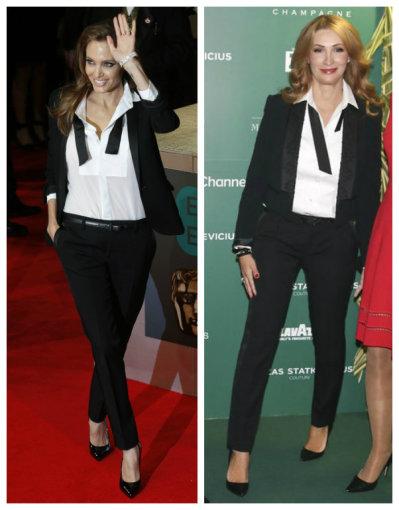 """Scanpix""/""Reuters"" ir Žmonės.lt/Viganto Ovadnevo nuotr./Angelina Jolie ir Daina Bosas"